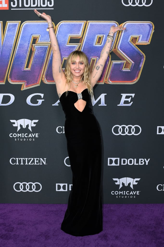 If Dresses Could Flirt, Miley Cyrus' Peekaboo Gown Would Be a Smooth-Talker
