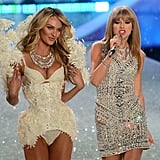 Taylor Swift and Candice Swanepoel took the catwalk by storm at the Victoria's Secret Fashion Show in NYC on Wednesday.