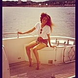 Ciara enjoyed some downtime on a yacht. Source: Instagram user ciara