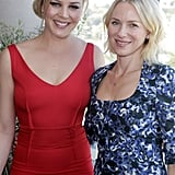 Abbie Cornish and Naomi Watts smiled together at The Hollywood Reporter and Jimmy Choo stylists event in LA.