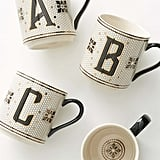 Anthropologie Bistro Monogram Mug