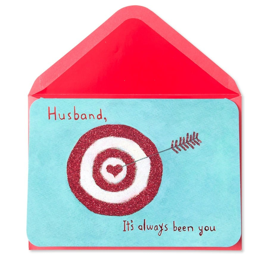 Let your man know you hit a bullseye when you found him. Husband Heart Target $6