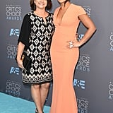 Gina Rodriguez was accompanied by her lovely mother, Magali, at the Critics' Choice Awards.