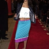 Zoe shows off her abs at the Get Over It premiere in '01.