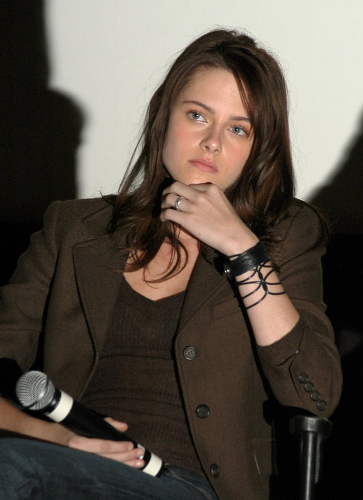 Kristen Stewart spoke at the Fierce People screening in Hollywood in October 2005.