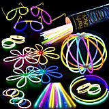 No 90s themed celebration would be complete with out glowing decor. Scatter the glow sticks in this party pack ($15) around the tabletop or pile them up in clear vases to create an illuminating display.