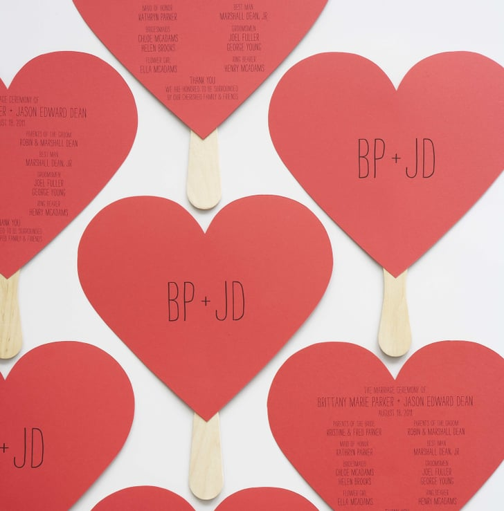 Heart Shaped Programs Free Printable Wedding Program