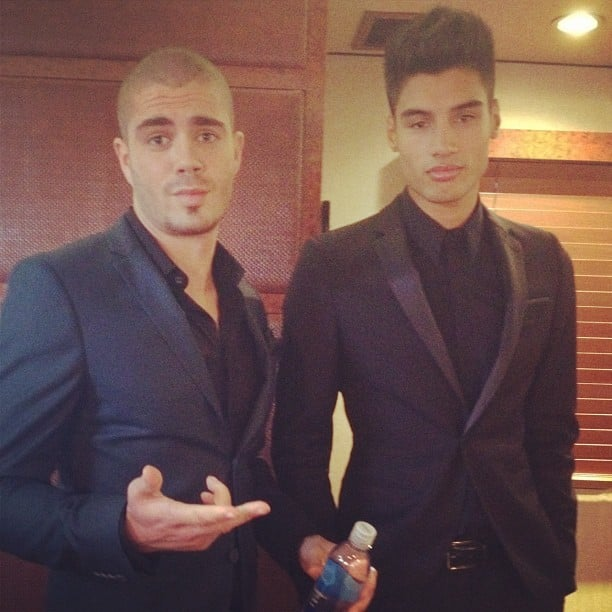 Siva Kaneswaran and Tom Parker of The Wanted looked dapper hanging out on their tour bus. Source: Instagram user sivathewanted