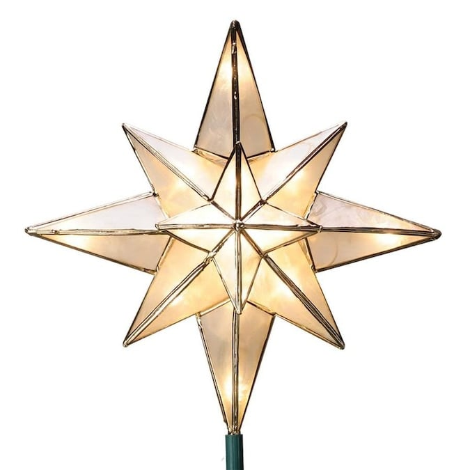 GE 10-in Star Off-White Christmas Tree Topper Lowes.com