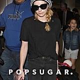 Emma Roberts headed to LAX on Sunday.