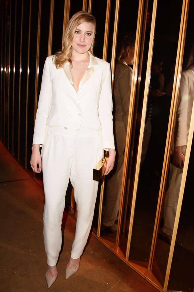 Greta Gerwig (in Band of Outsiders) at the Swarovski afterparty in New York. Photo: Matteo PrandoniBFAnyc.com