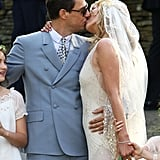 See Kate Moss's Full Galliano Wedding Dress as She Kisses New Husband Jamie Hince!