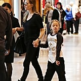 Angelina Jolie and Shiloh were at Sydney Airport on Sept. 12.