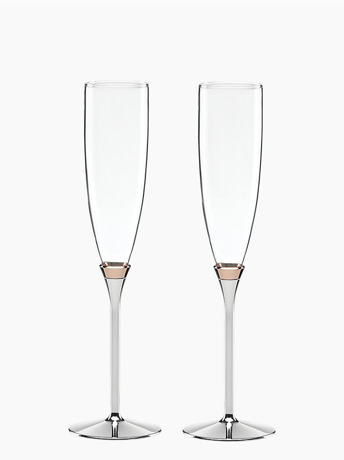 Kate Spade Rosy Glow Toasting Flutes ($85)