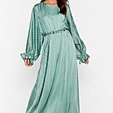 Love Me Stripe Balloon Sleeve Maxi Dress