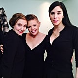 """For Lena Dunham, hanging out with Natalie Maines and Sarah Silverman was a """"life highlight."""" Source: Instagram user lenadunham"""