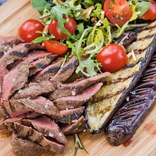 BBQ Lamb and Eggplant