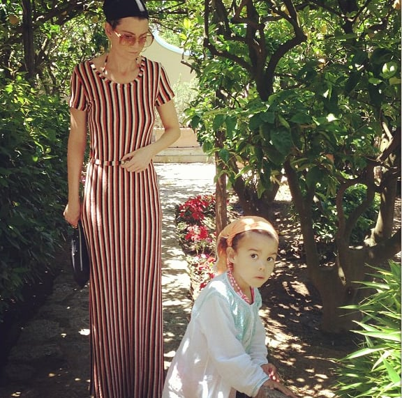 Ellen Pompeo and Stella Ivery dressed the part for their Italian holiday. Source: Instagram user ellenpompeo