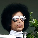 Showing off his iconic shades at the French Tennis Open in 2014.