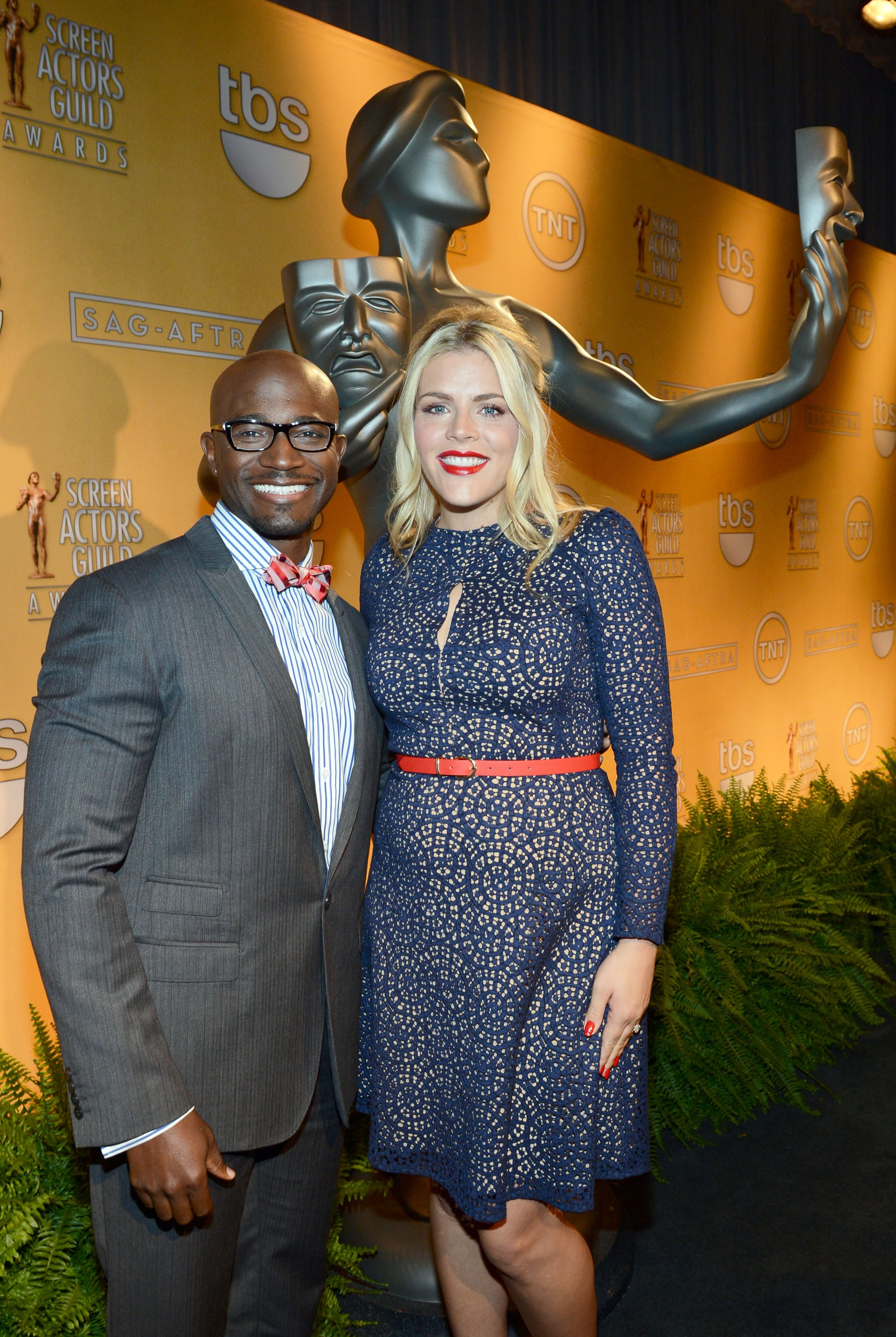 Taye Diggs and Busy Phillips stepped out in LA for the SAG Nominations.