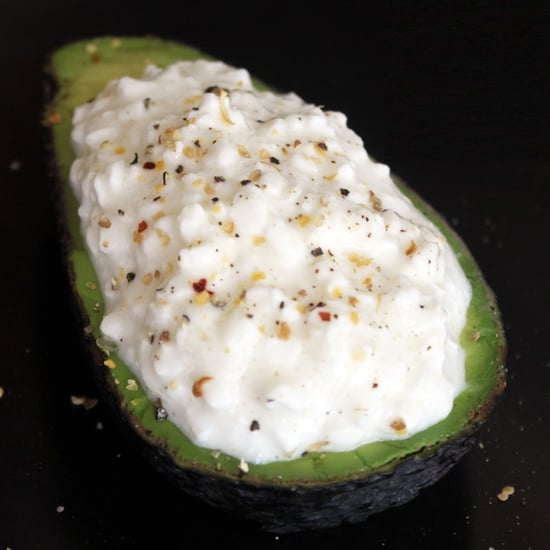 Avocado and Cottage Cheese Snack For Protein