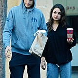 Ashton Kutcher and Mila Kunis wore their sweats out in LA.