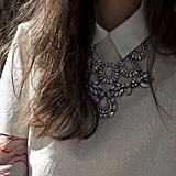 Just lovely — the prettiest statement piece to offset a classic collared blouse.