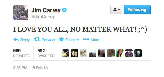 Ditto, Jim Carrey.