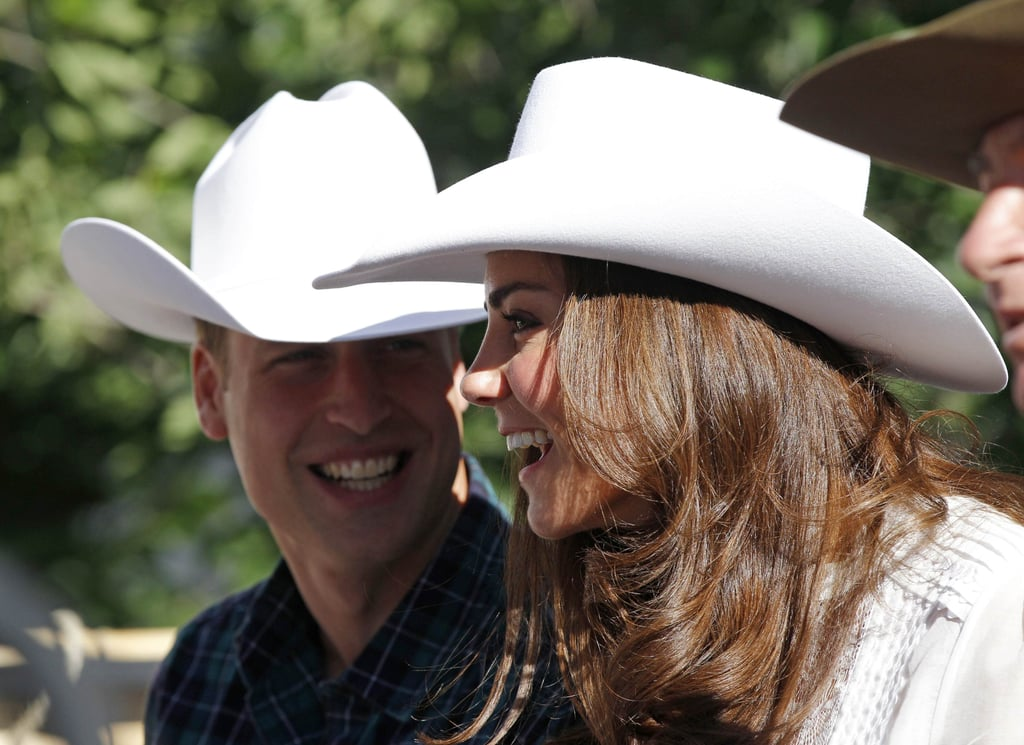 They wore matching hats to the Calgary Stampede in July 2011.