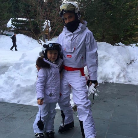 Victoria and Harper Beckham Skiing Instagram Photo Feb. 2017