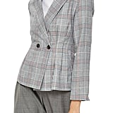 Topshop Cham Linen Checkered Jacket