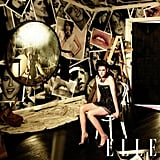 Kristen Stewart showed a lot of leg in the June 2010 issue of Elle.