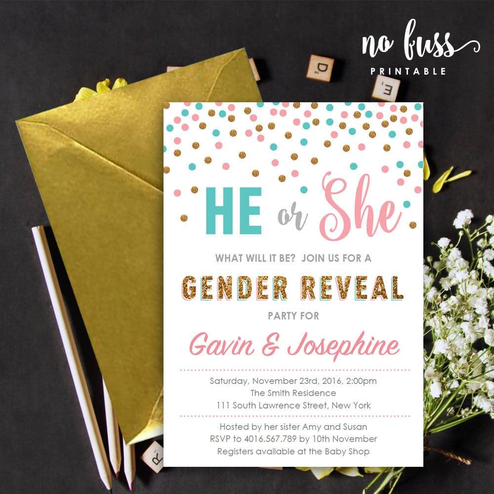he or she polka dot invite gender reveal invitations popsugar