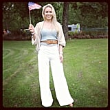 Lindsey Vonn showed her American pride. Source: Instagram user lindseyvonn