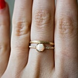 An Opal Is Gorgeous Alone — Play It Up With a Subtly Etched Ring