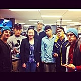 Jess bumped into Justice Crew at the Sony Music headquarters.