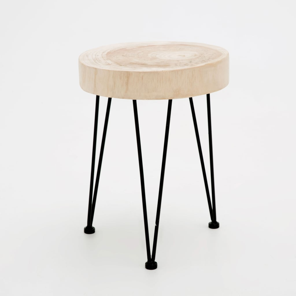 Zara Home Round Trunk Style Stool 139 New Homewares And Furniture September 2016 Popsugar