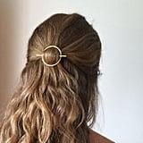 Annie Lesperance Minimalist Gold Hair Clip
