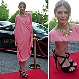 Get inspired by Mischa Barton's gorgeous pink dress.