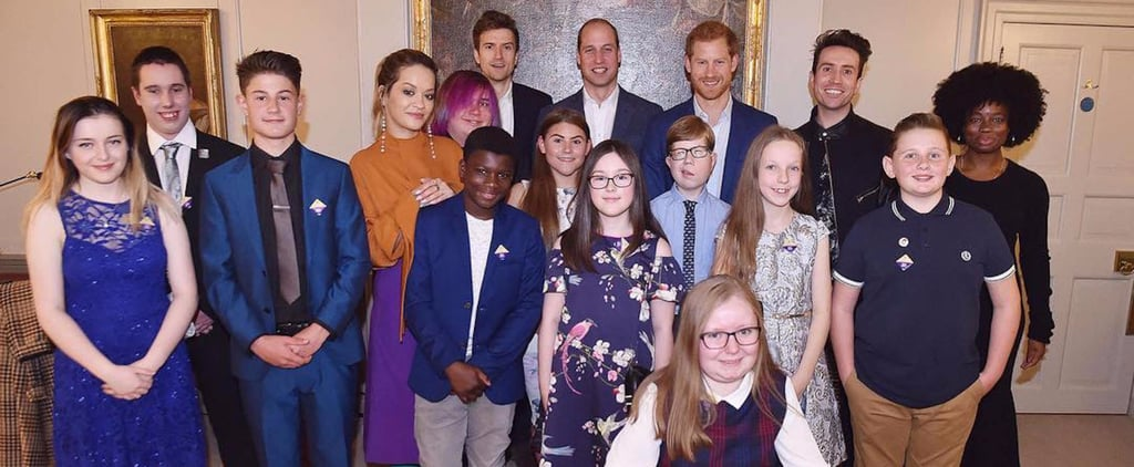 Prince Harry and Prince William Work Their Royal Charm on a Group of Teen Heroes