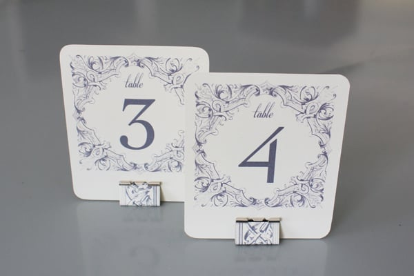 Neutral Gray Table Numbers