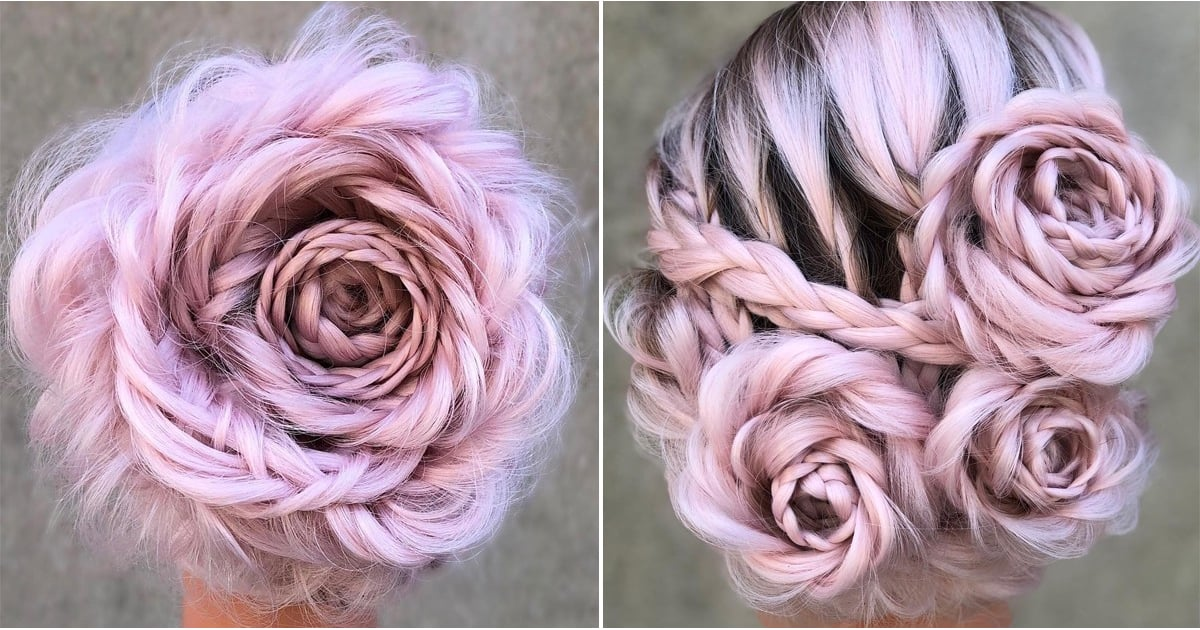 Plaited Rose Hairstyle Tutorial And Inspiration Popsugar