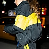 Gigi Hadid Wore a Tracksuit With Glow in the Dark Sneakers