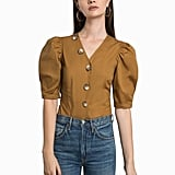 Pixie Market Tartine Button Puffy Sleeve Shirt
