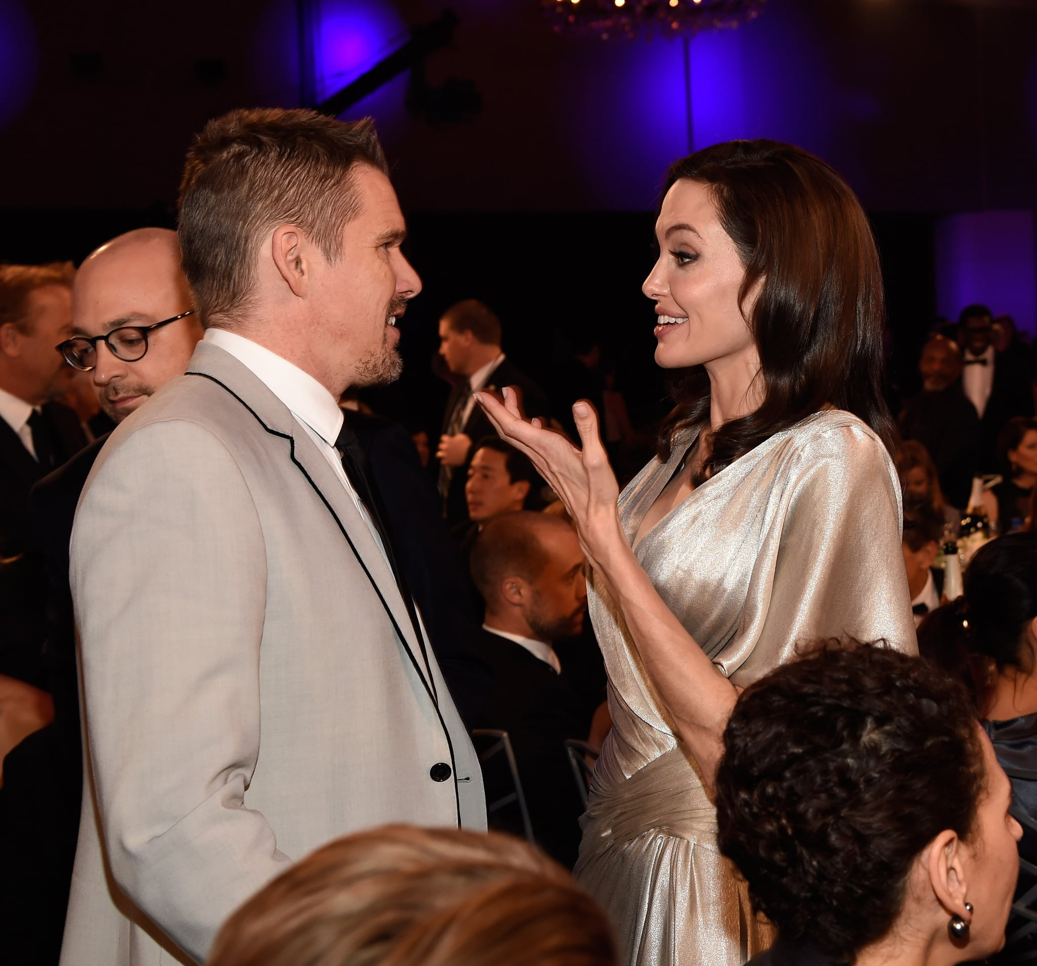 Angelina Had A Smiley Reunion With Her Taking Lives Costar Ethan