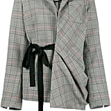 Rosie Assoulin Asymmetric Check Tie Jacket