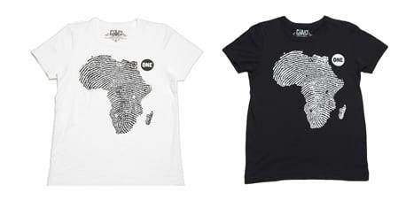 Simply Fab: 2007 EDUN ONE Campaign T-Shirts