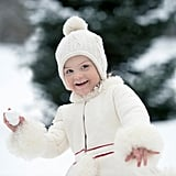 Princess Estelle Throwing a Snowball