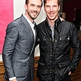 Dan Stevens and Benedict Cumberbatch were all smiles at the September 2014 screening of The Guest in London.