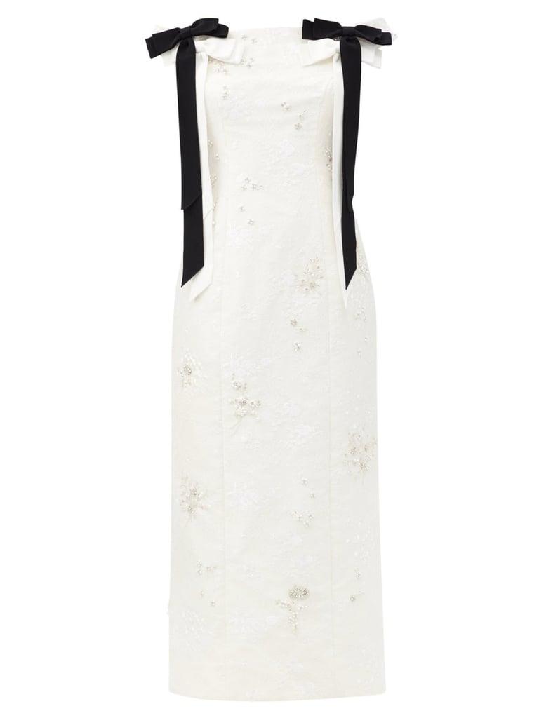 Erdem Angelique Crystal-Embellished Chantilly-Lace Dress